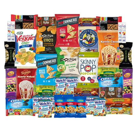 Healthy Snacks Care Package For College, Dorms, Military, Student, School, Camp, and Office | Gift Basket By SnackBOX  (40 Count) ()