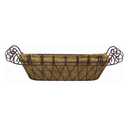 - Deer Park Ironworks French Window Box with Coco Liner
