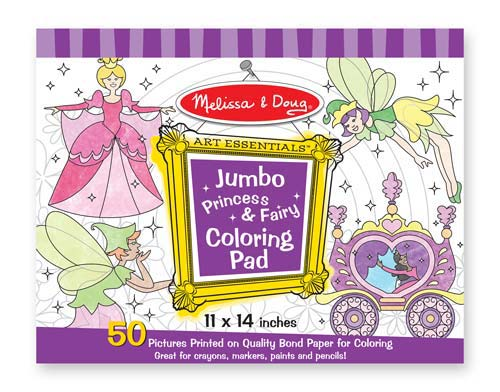 Melissa & Doug Jumbo 50-Page Kids\' Coloring Pad Activity ...