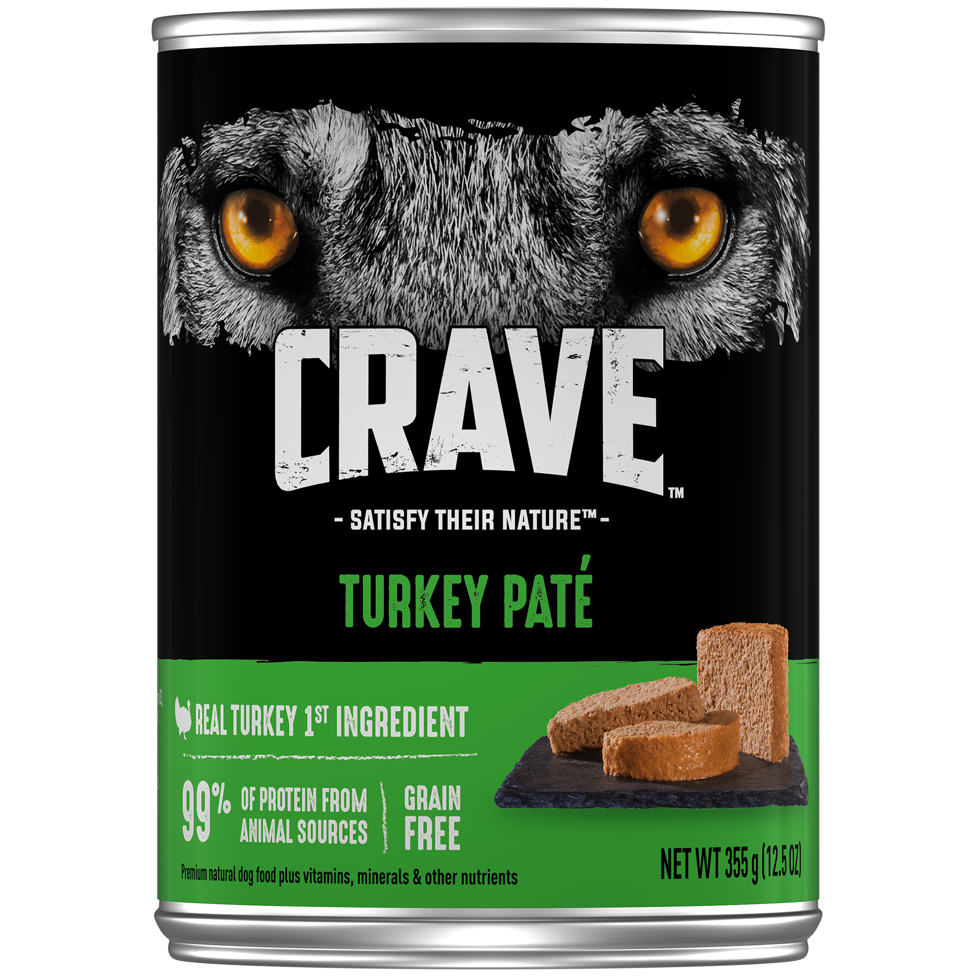 (12 Pack) CRAVE Grain Free Adult Canned Wet Dog Food Turkey Pate, 12.5 oz. Can