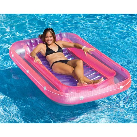 Swimline 71 Inch Swimming Pool Inflatable Suntan Tub Lounge Water Raft Float