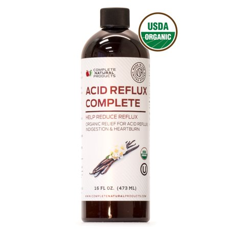 Acid Reflux Complete - Natural Organic Liquid Heartburn, GERD, & Amish Reflux Relief Remedy &