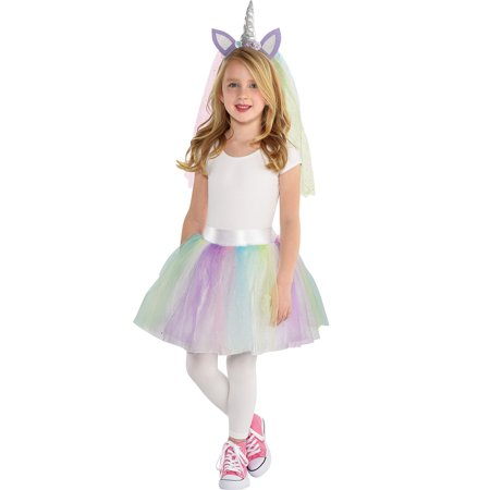 Unicorn Halloween Costume Accessory Kit Girls, One Size, 2 Pieces, by Amscan