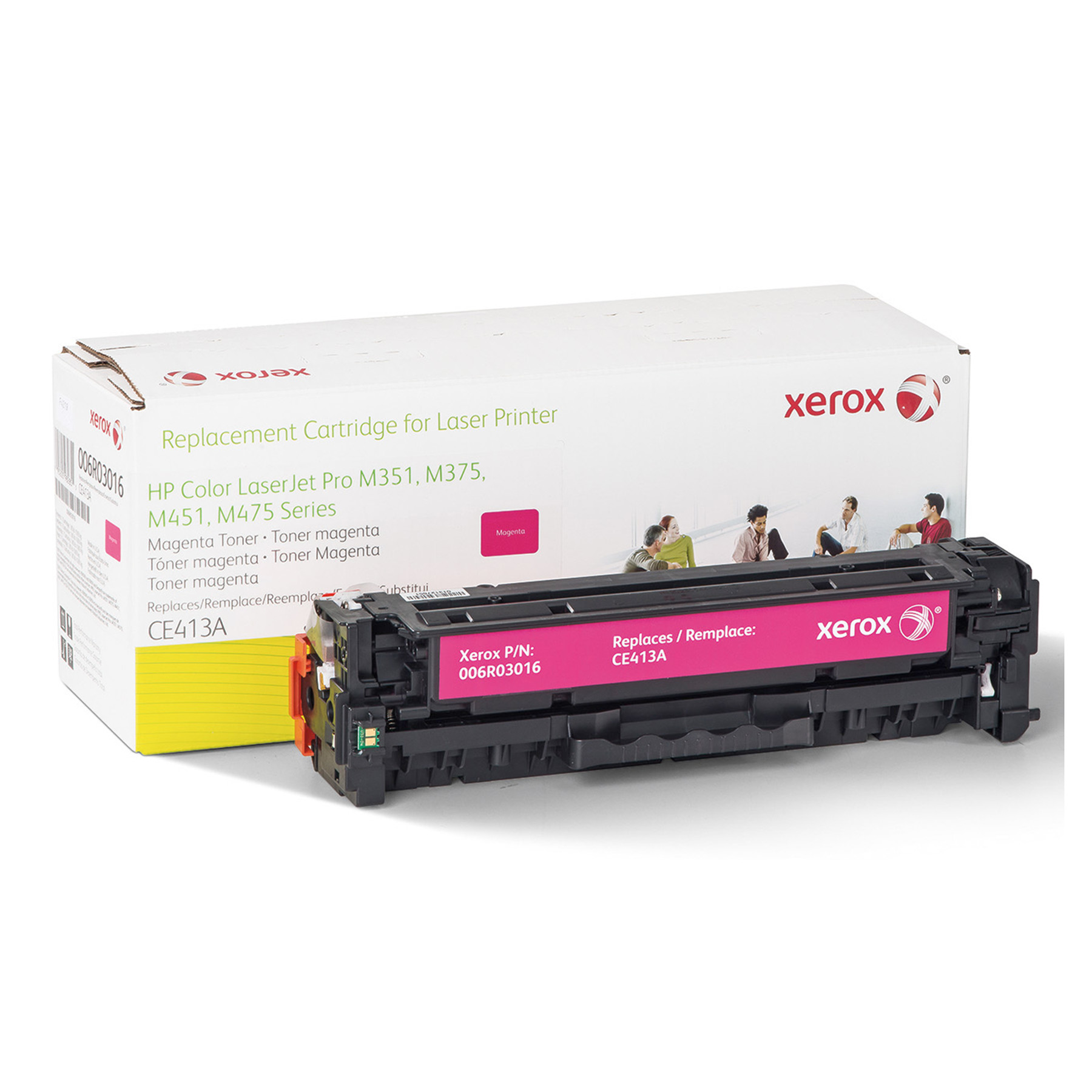 Refurbished Xerox 6R3016 (CE413A)-Compatible Toner, 2,600-Page Yield, Magenta