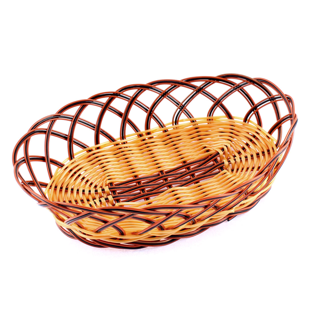 Plastic Braided Basket Fruit Vegetable Container Holder Yellow Red Black