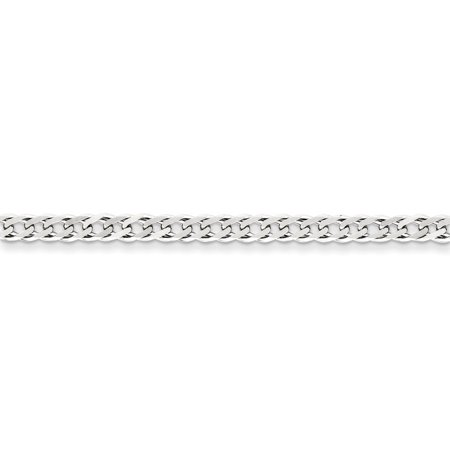 Sterling Silver 4.25mm Double 6 Side D/C Flat Link Chain