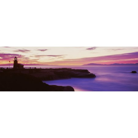 Lighthouse At The Coast Walton Lighthouse Santa Cruz California Usa Poster Print