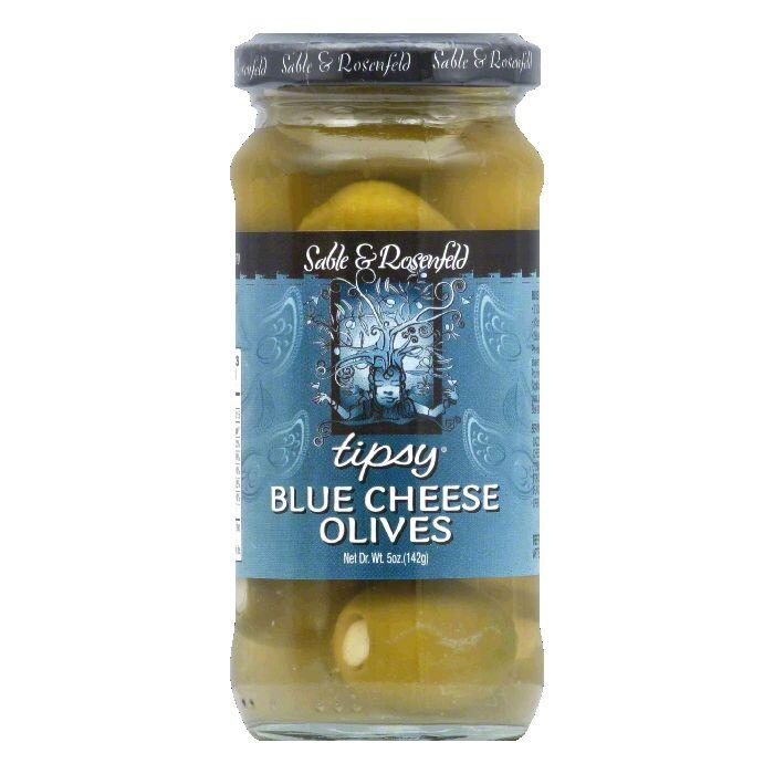 Sable & Rosenfeld Blue Cheese Stuffed Olives, 5 OZ (Pack of 6)
