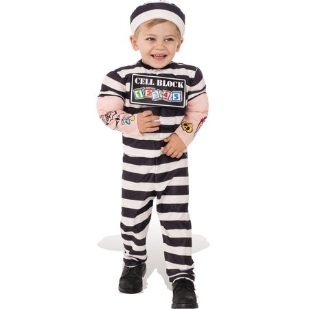 little prisoner boy convict inmate child muscle chest halloween costume