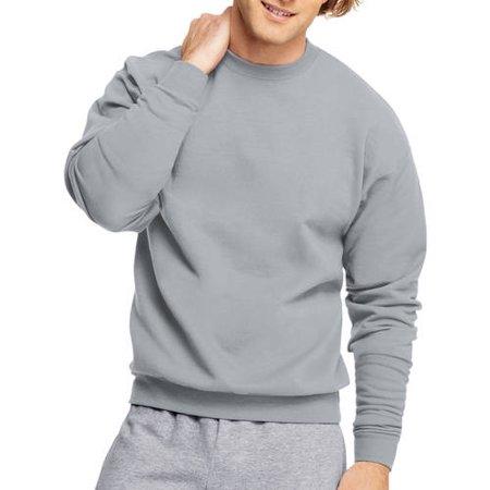 Hanes Men's EcoSmart Fleece Crew Neck Sweatshirt - Silver M