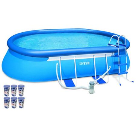 Intex 18 39 x 10 39 x 42 oval frame swimming set with 1000 for Intex pool 120 hoch