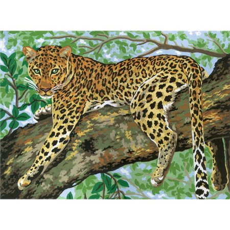 Collection D'Art Needlepoint Printed Tapestry Canvas, 40cm x 50cm, Cheetah