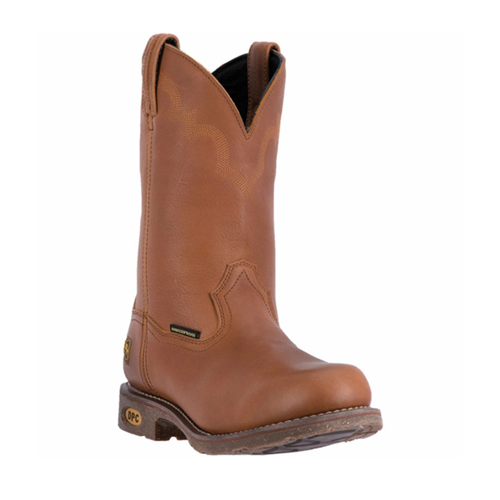 Dan Post Men's 11'' Lawton Waterproof Steel Toe Work Boots Brown Leather 10.5 W by DAN POST