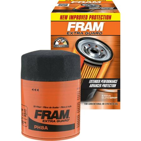 FRAM Extra Guard Oil Filter, PH8A (Extra Filter Holder)