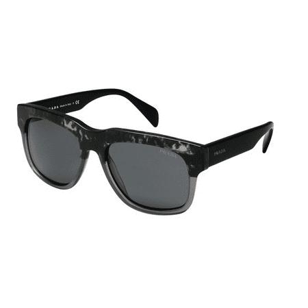 Prada PR14QS-RO31A1 Cast Men's Black Frame Grey Lens Genuine Sunglasses NWT