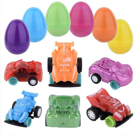 Cars Easter Eggs (288 Toy Filled Plastic Easter Eggs with Miniature Wind-Up Car - 2.3-inch Bulk Easter Egg Hunt Party Favor Bundle)