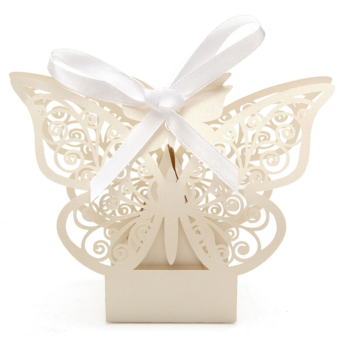 10Pcs Paper Butterfly Cut Candy Cake Boxes Wedding Party Gifts Favor Case Cake Style for Wedding Baby Shower Decorating Supplies,Pink color