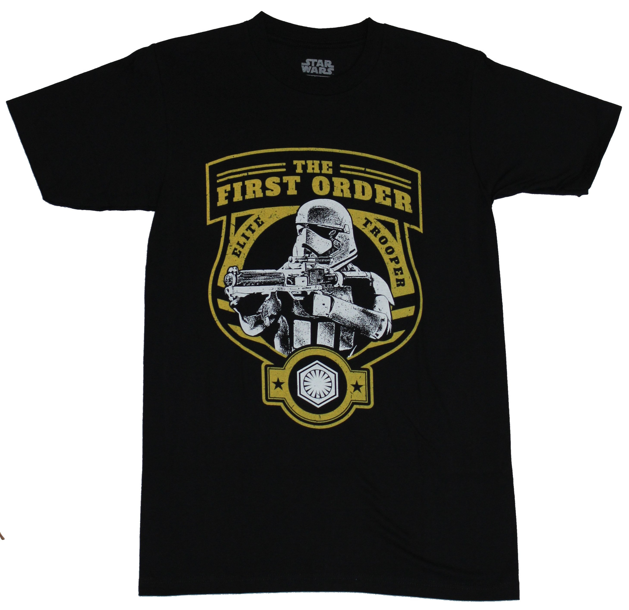 Star Wars Force Awakens Mens T-Shirt - The First Order Elite Trooper Image