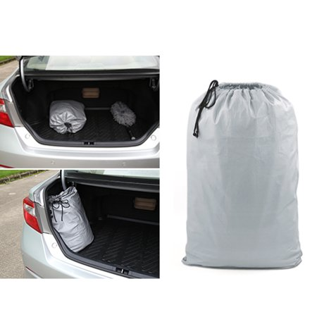 3XXL Silver Tone 170T Car Cover Waterproof Snow Heat Resistant w Mirror Pocket - image 7 of 9