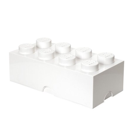 LEGO Storage Brick 8 Med Stone - White