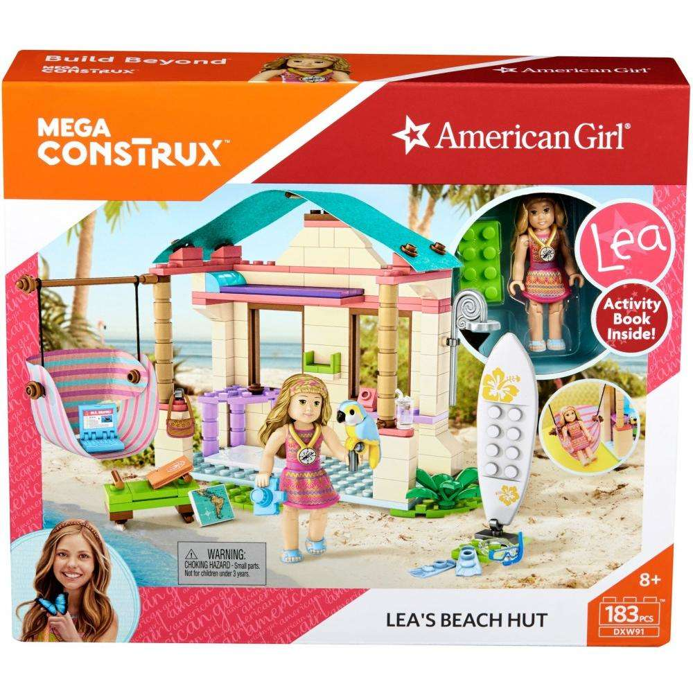 Mega Construx American Girl Lea's Beach Hut Building Set by MATTEL INC.