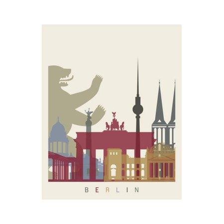 Berlin Skyline Poster Print Wall Art By paulrommer