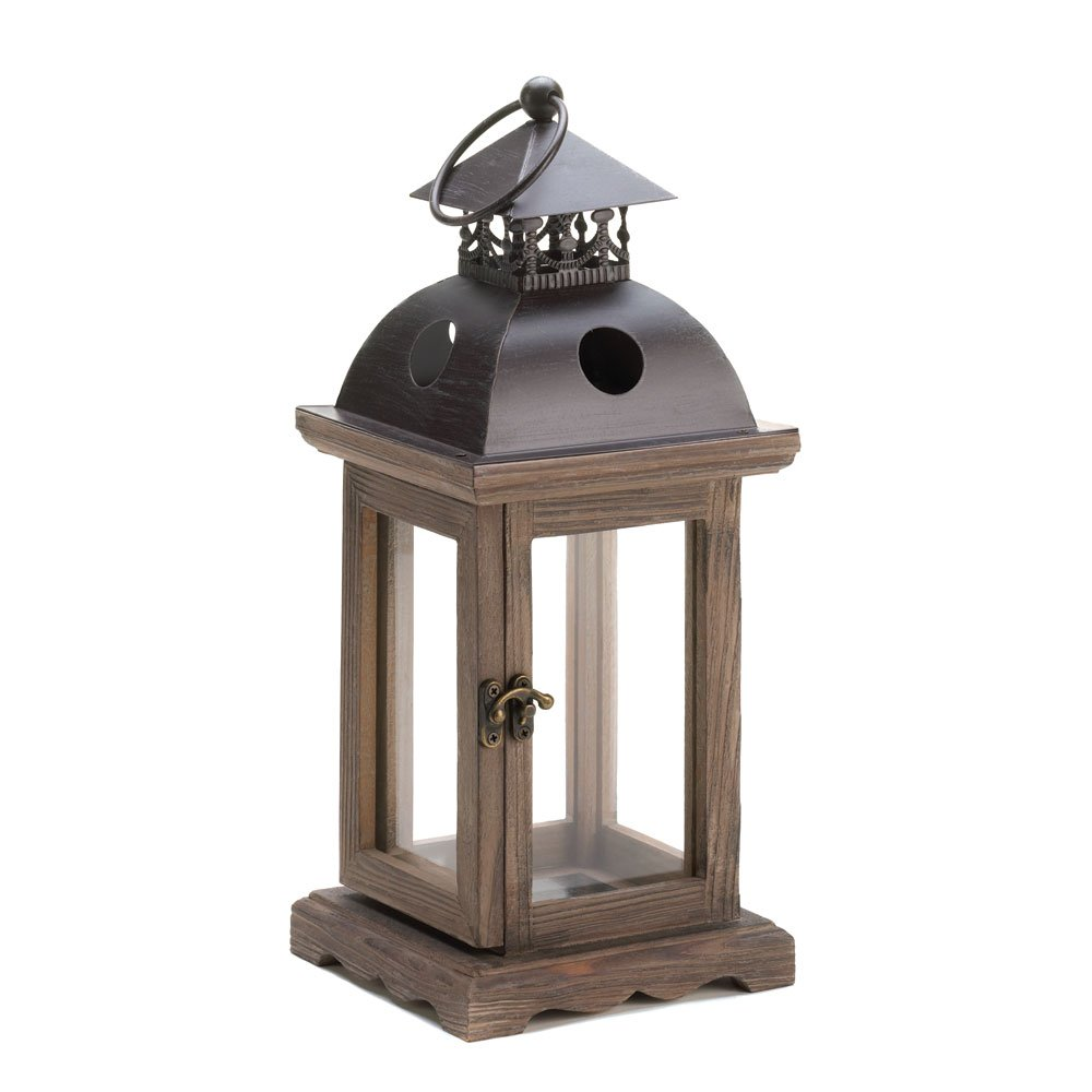 Lantern Candle Holders Outdoor Hanging Decorative Monticello Wood Candle Lantern