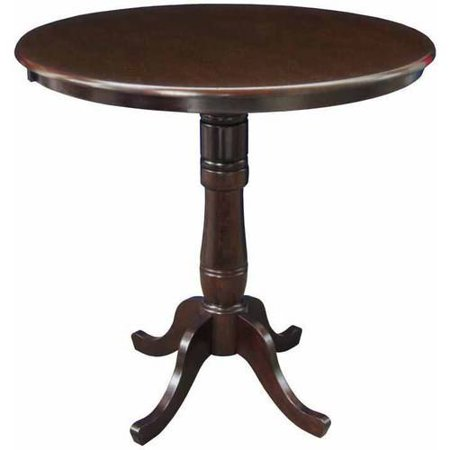 36 round top pedestal table 42 h