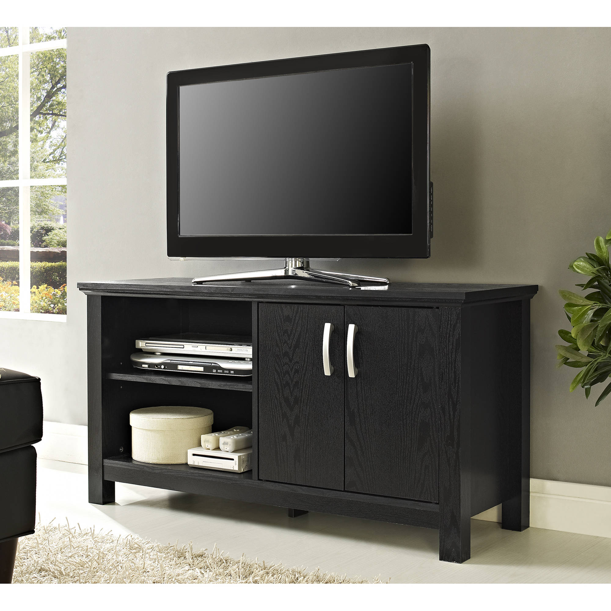 Walker Edison Black TV Stand for TVs up to 52""