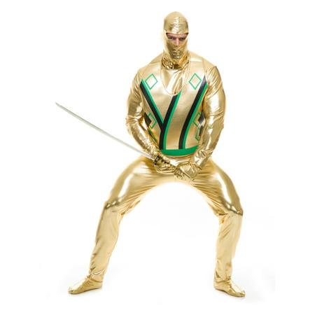 Adult's Mens Gold Ninja Avenger Series 3 Martial Arts Costume (Martial Arts Costumes)