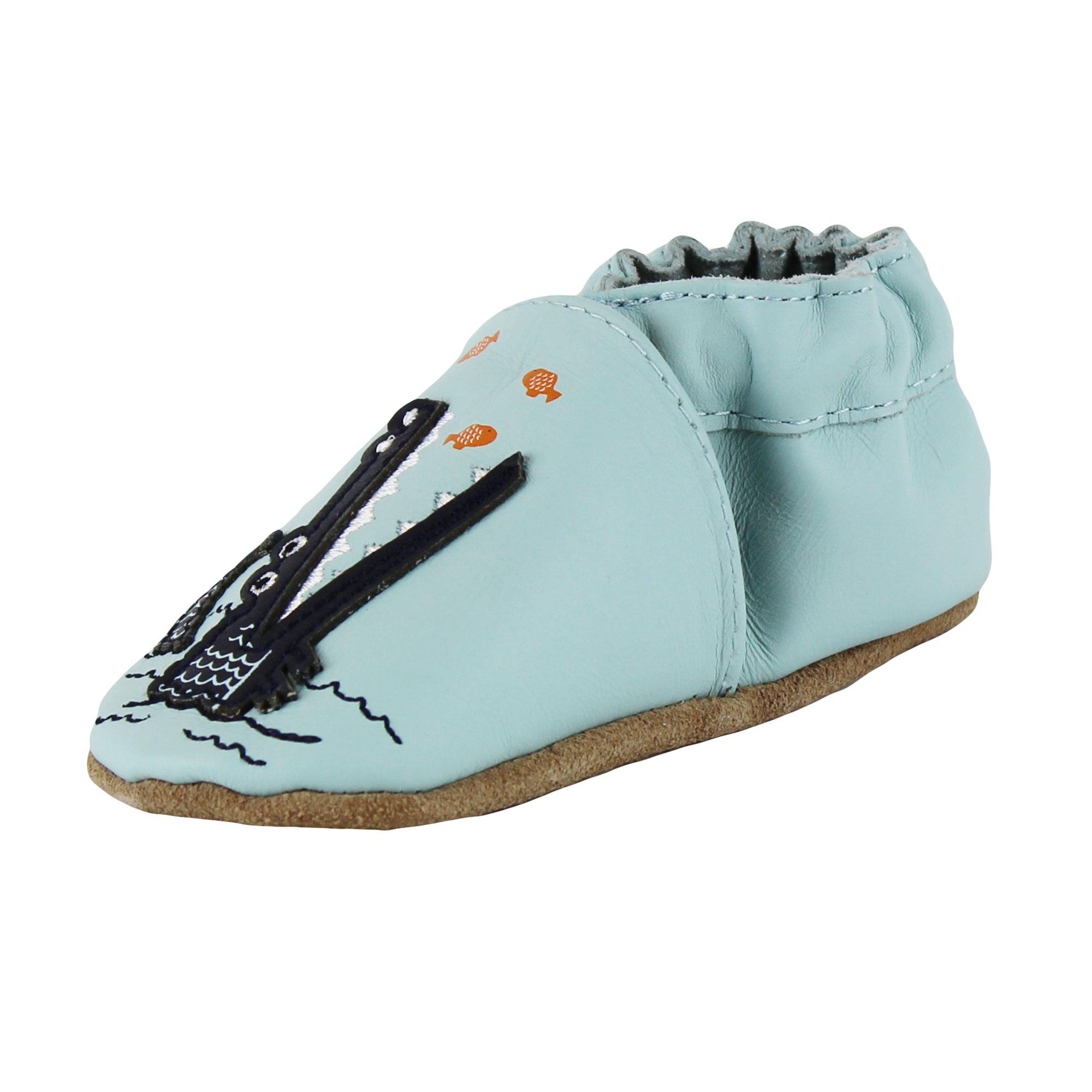 Robeez Baby Boys Alligator Prewalker Leather Baby Shoes Crib Shoes 0