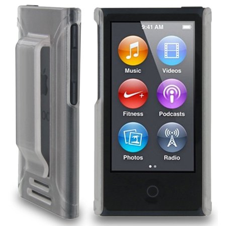 Apple Ipod Nano Leather Cover (CLEAR FROST HARD CASE COVER WITH BELT CLIP HOLSTER FOR APPLE iPOD NANO 7 7th 8th GEN GENERATION)