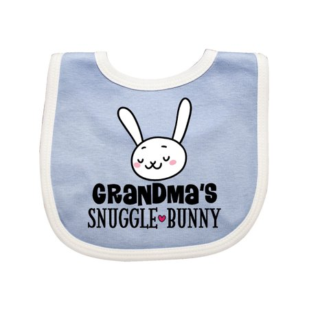 Grandma Snuggle Bunny Easter Outfit Baby Bib - Grandma Outfit