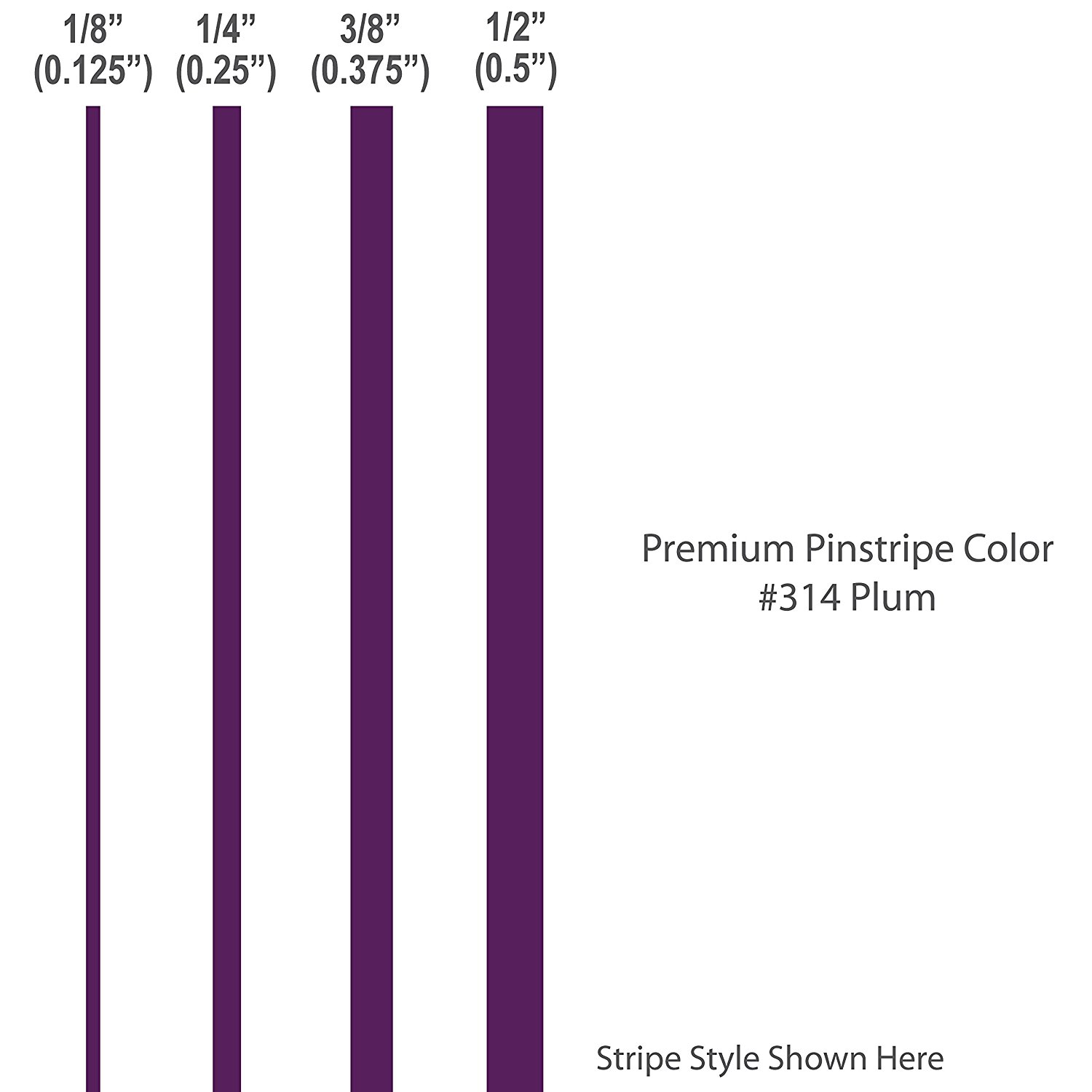 1 8� inch wide PREMIUM Pinstripes.   PLUM   car truck auto vehicle door motorcycle vinyl sticker pin strip... by 1060 Graphics