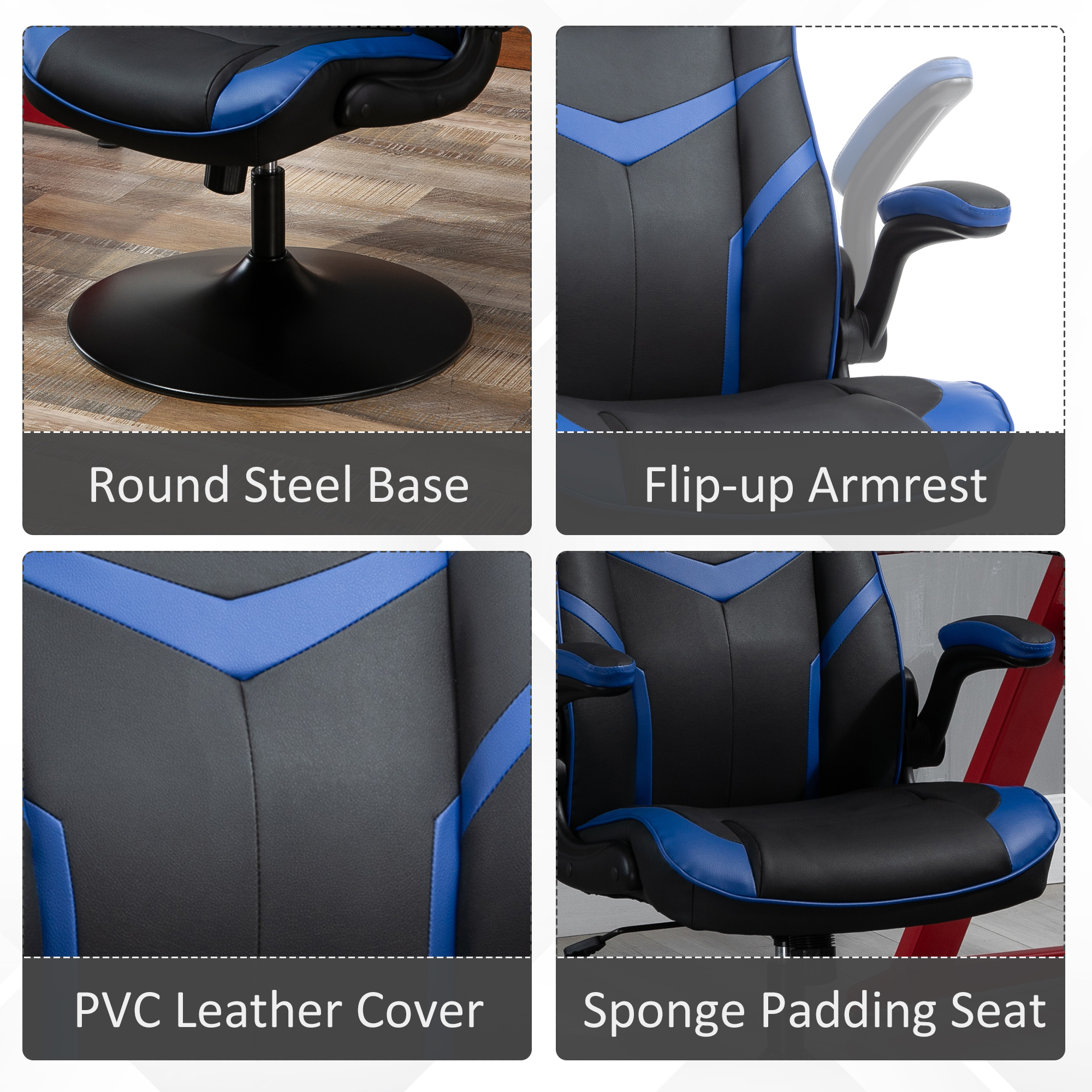 Swivel Office Furniture Chairs Stools, Round Base Gaming Chair