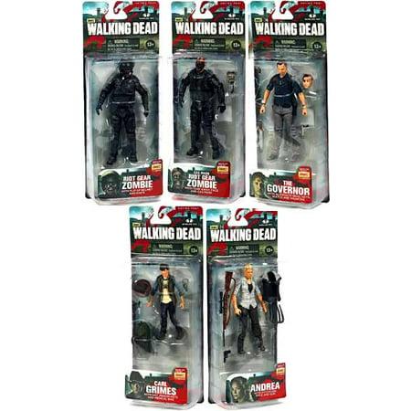 McFarlane AMC TV Walking Dead TV Series 4 Set of 5 Action (Walking Dead Tv Series 5 Action Figures)