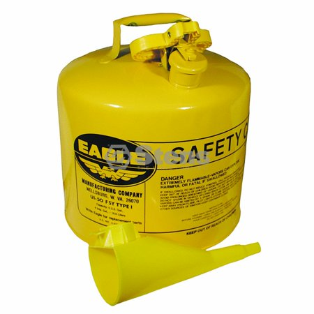 Eagle Metal Safety Diesel Can / Eagle 5 Gallon With Funnel