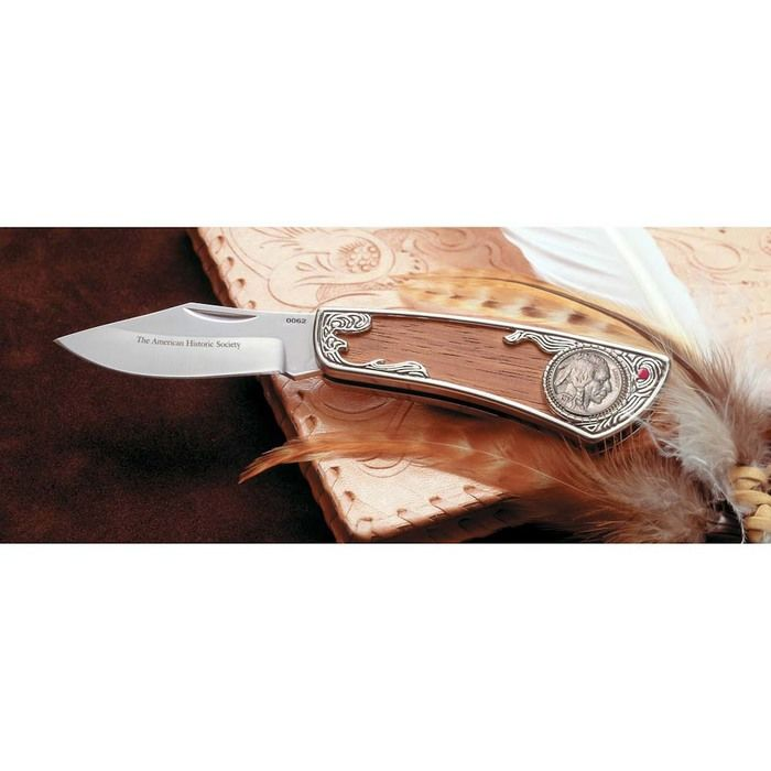 Buffalo Nickel Pocket Knife with Genuine Ruby