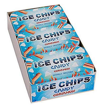 ICE CHIPS Xylitol Candy, Cinnamon (6 Tins) (Chips Candy)