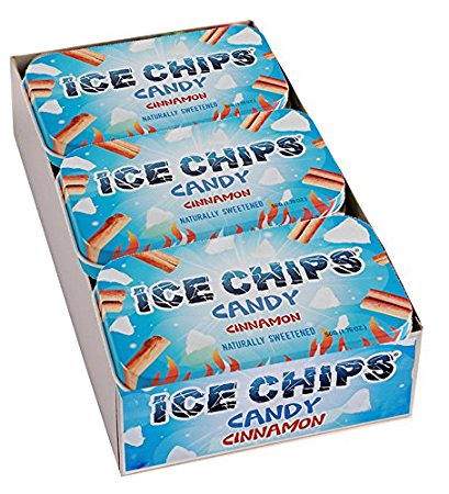 ICE CHIPS Xylitol Candy, Cinnamon (6 Tins)