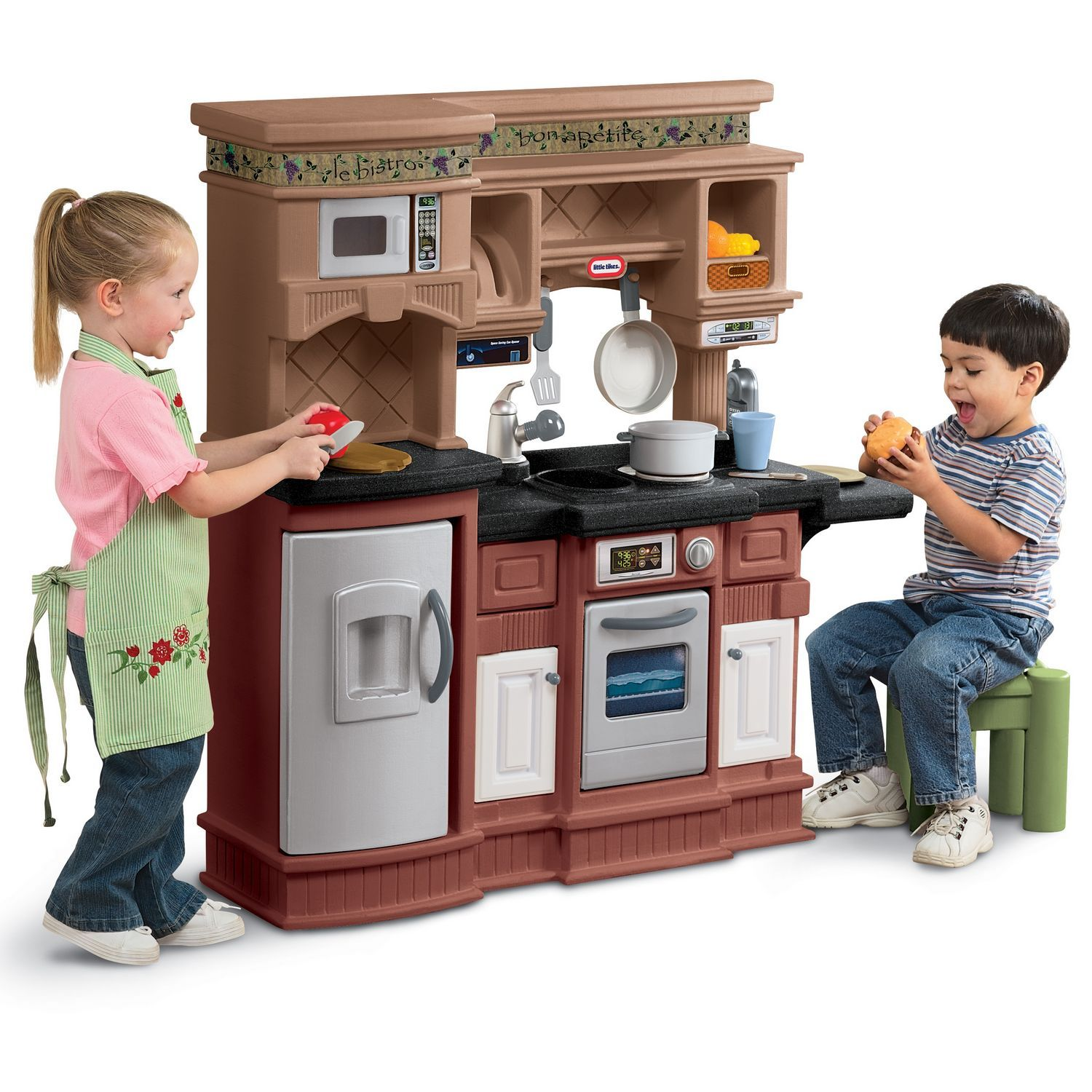 Little Tikes Gourmet Prep 'n Serve Kitchen with 18-piece Accessory Set by MGA Entertainment
