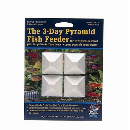 2 pack aquarium pharmaceuticals 14 day pyramid fish feeder for Weekend fish feeder