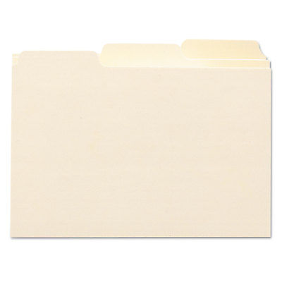 Smead Self-Tab Card Guides Blank 1/3 Tab Manila 6 x 4 100...