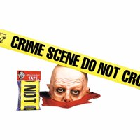 Do Not Cross Crime Scene Tape Halloween Decoration