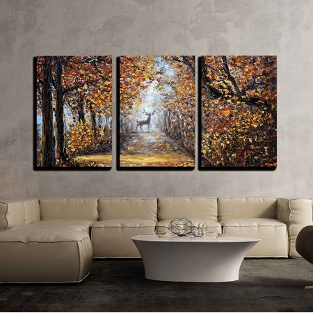 wall26 - Deer at The End of Path - Canvas Art Wall Decor - 24