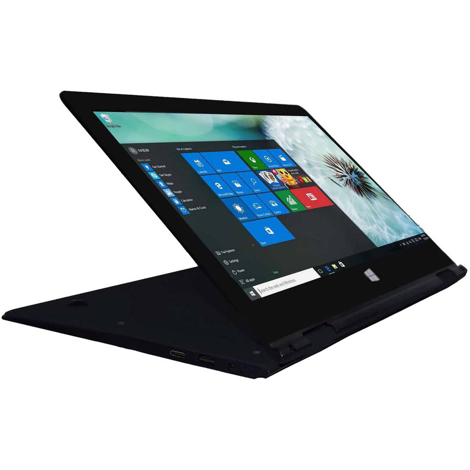 "ULTIMA 13.3"" Touch Screen 2-in-1 Convertible laptop PC with Intel Atom Cherry Trail Z830D Quad-Core processor, 2GB Memory,32GB SSD and Windows 10"