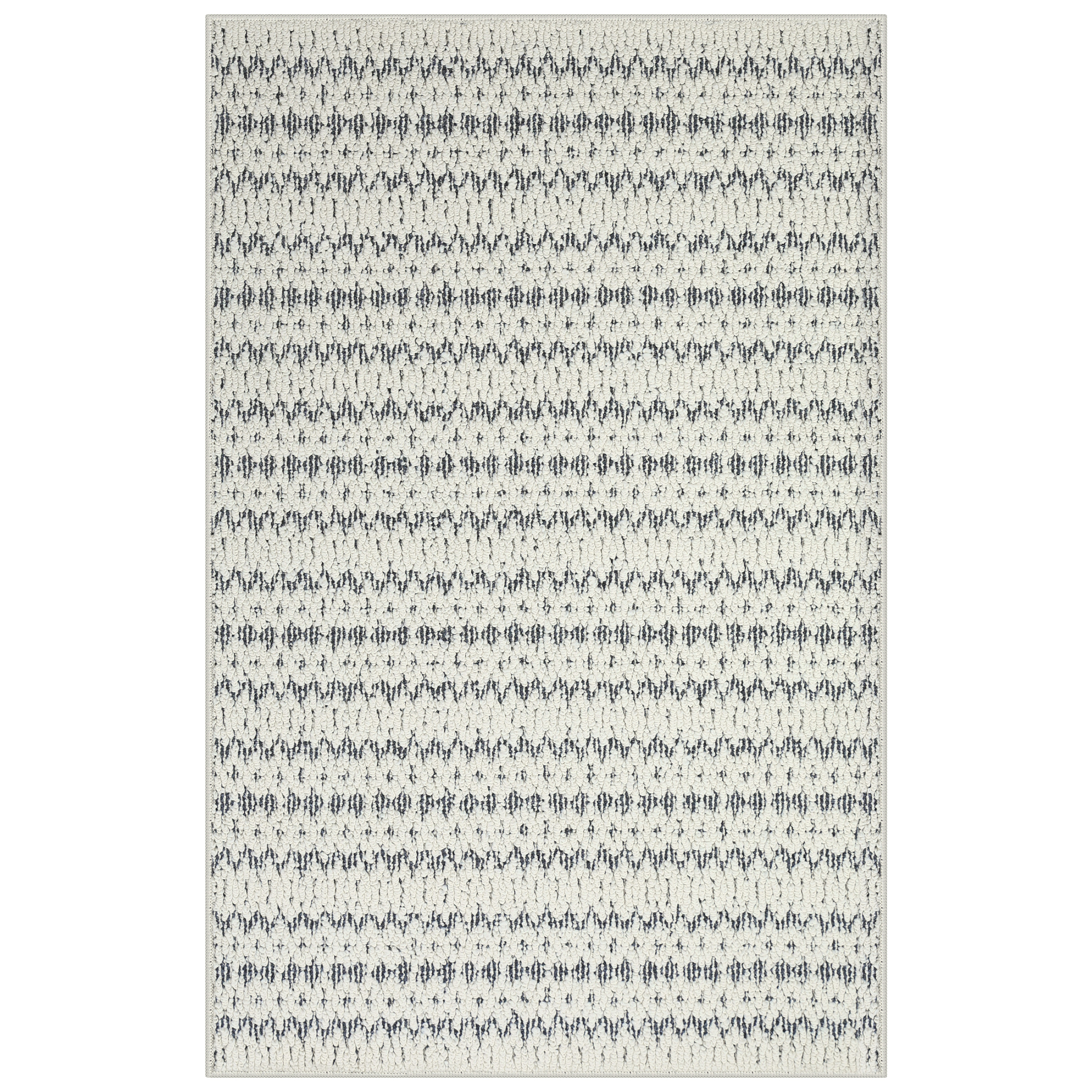 Mainstays Sloan Textured Natural Stripe Area Rug or Runner