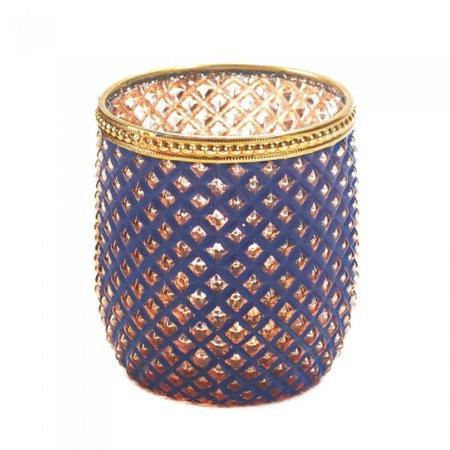 Dominion Purple Glass Candleholder