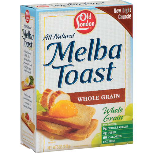 Old London All Natural Whole Grain Melba Toast, 5 oz (Pack of 12)