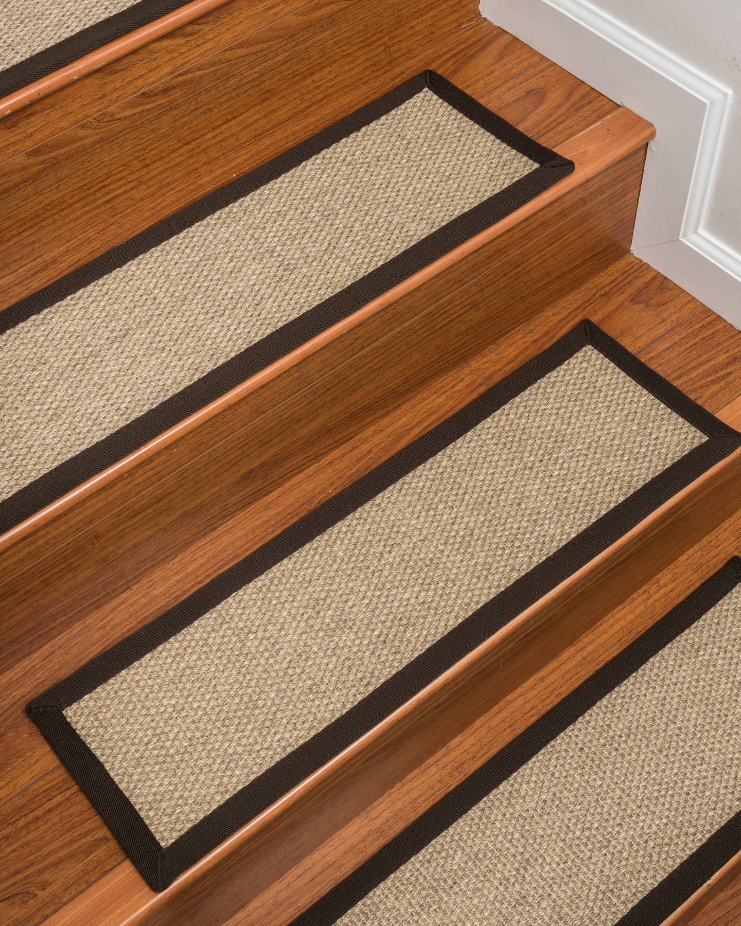 NaturalAreaRugs Edmond Sisal Carpet Stair Treads, Durable Stain Resistant  Non Slip Latex Backing (